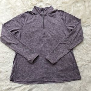 Nike purple smoke women's element half zip